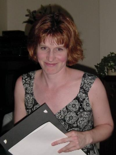 Susan Frost winning Best UG Essay in German in 2005
