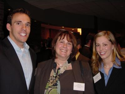Professor Corl (middle) with Bryan Wysong and Amy Starr in 2005
