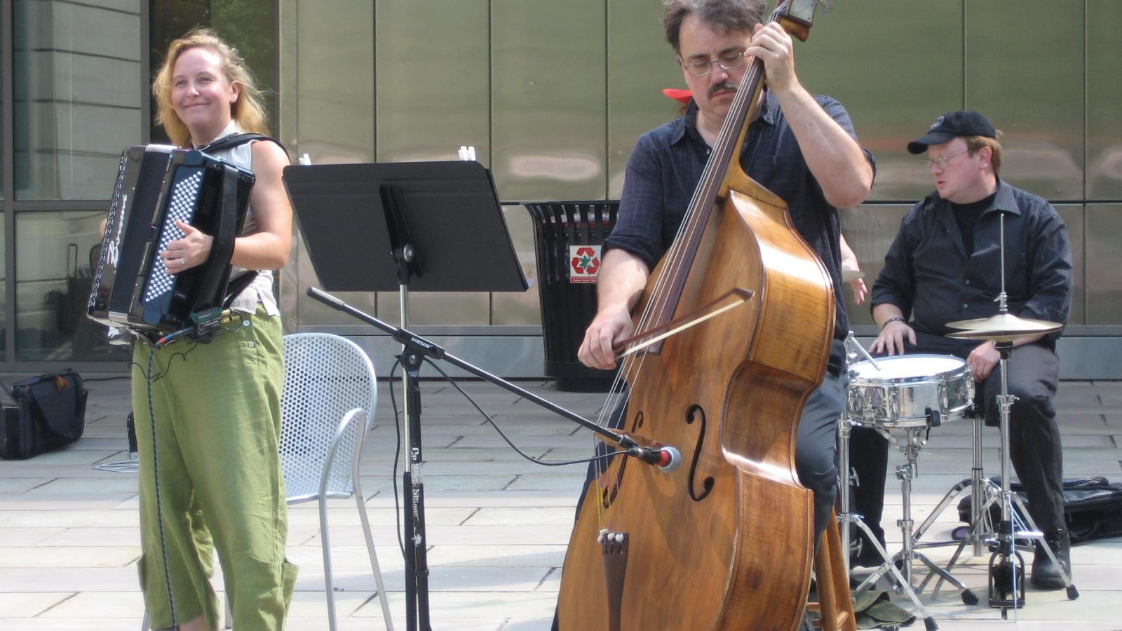 Trio playing at LangFest