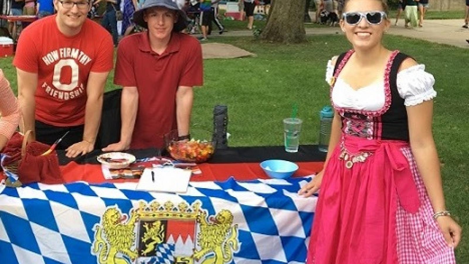 The OSU German Club on the Oval in Columbus