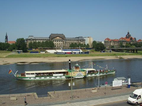 city of Dresden on the Elbe